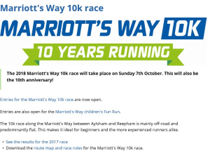 Marriott's Way 10k is celebrating it's 10th anniversary this year
