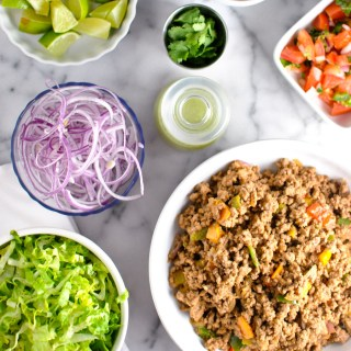 Look at this spread! the ultimate DIY taco bar - easily whole30 adaptable and SUPER delish. yessss! | thepikeplacekitchen.com
