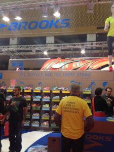 Brooks Booth at Marathona di Roma expo