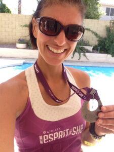 Esprit de She post race medal shot
