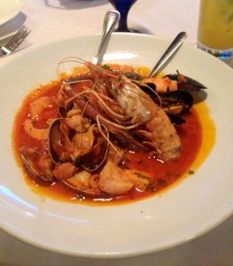 seafood stew, dinner, san diego, california, ocean room, fresh fish