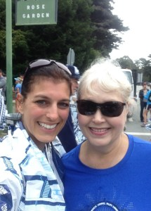 Sam met me at the finish line...so sweet