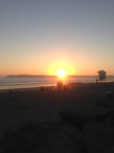 Coronado Island, San Diego, Seen on our run, California, sunset