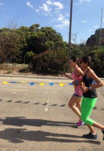 Raheleh is doing great - almost to the finish