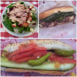 Portillo's, Chicago, Hot Dog, Italian Beef, Spinach Salad