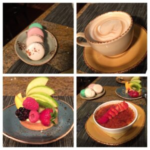 Pierrot Gourmet, Chicago, The Penisula, Macaroons, Cappucino, Fruit Tarte, Creme Brulee, Dessert