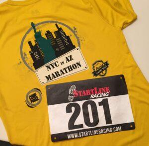 NYC in AZ, Marathon, Half Marathon, 4 Mile, Race Shirt, Bib, November 2, 2014