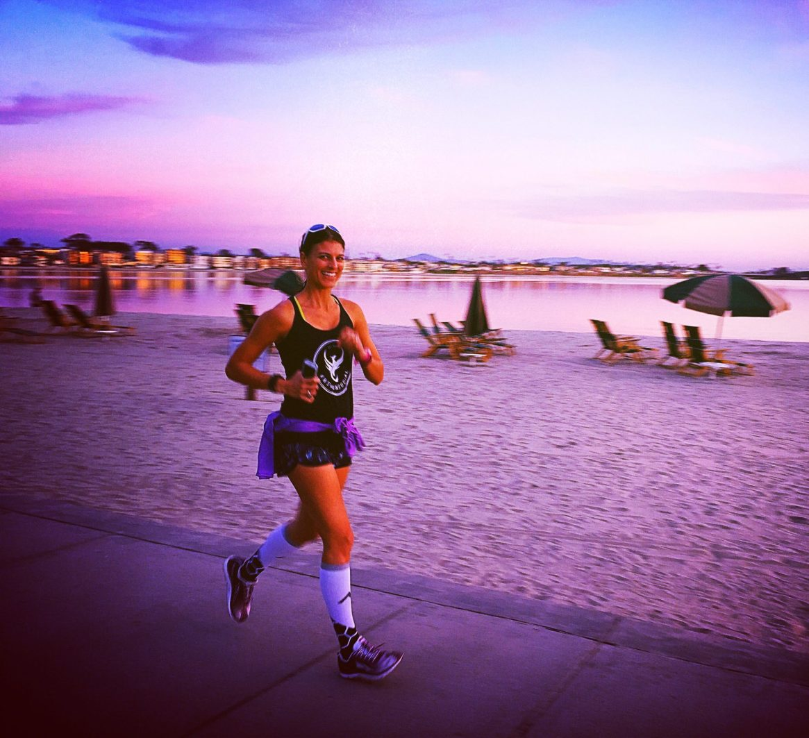 Mission Bay, San Diego, Runner, Sunset, We Run Social, Boom, WRS, Procompression, Altra Running