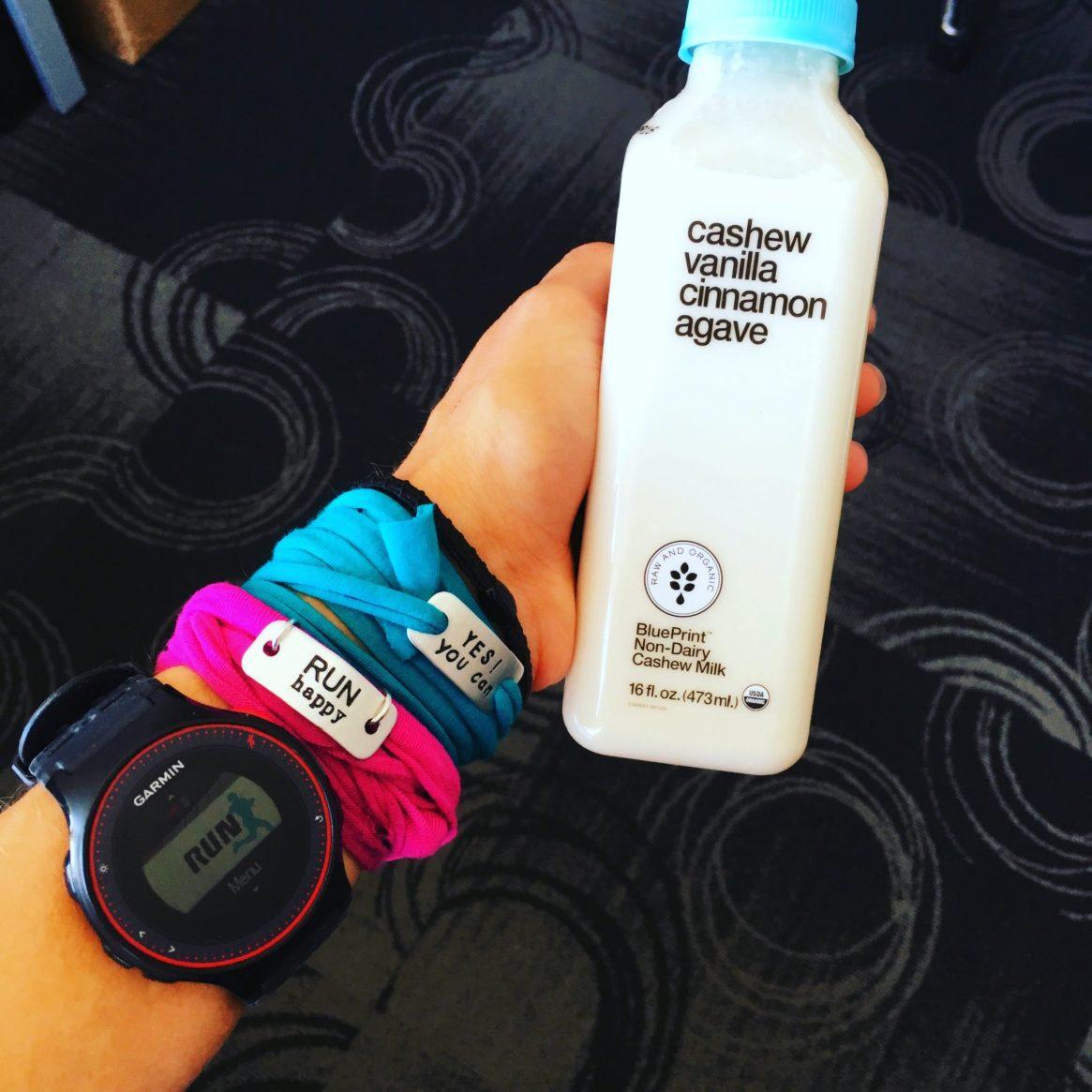 blue print cleanse, cashew milk, momentum jewelry, run happy, garmin, garmin fitness