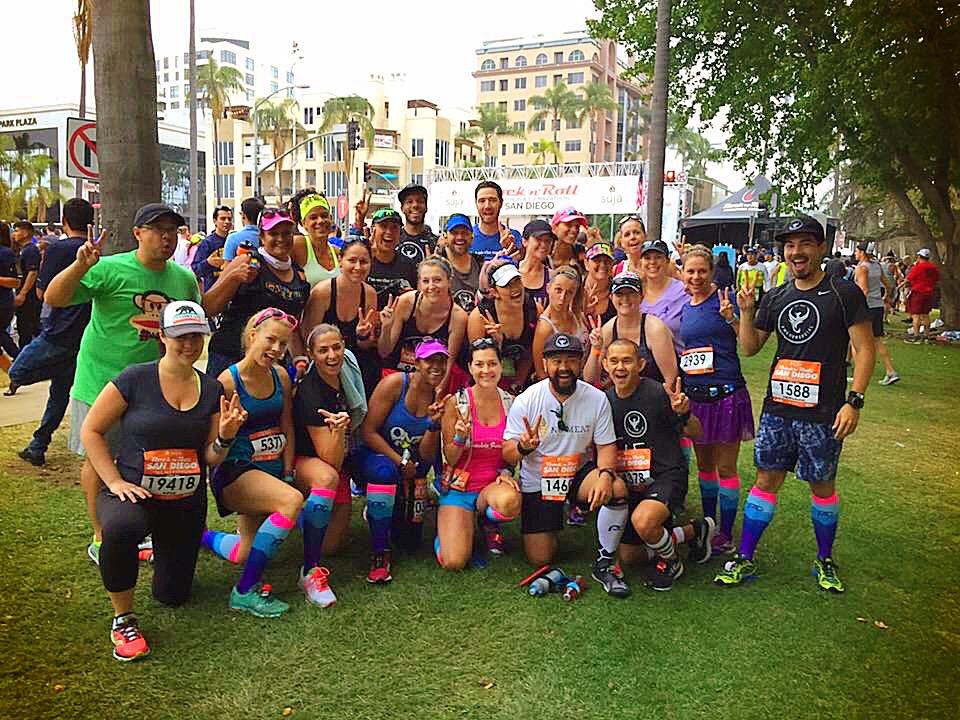 we run social, procompression, waves, Start Line, San Diego Rock n Roll, RNRSD, Half Marathon, Marathon