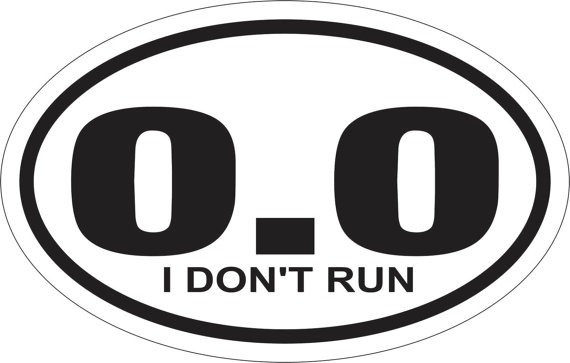 Man found running is forced to remove '0.0' sticker from