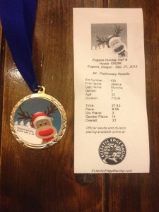 Eugene Holiday Half & Hustle Age Group Award