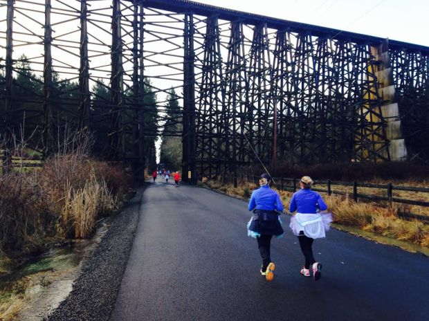 Railroad Trustles at the 2014 Heartbreaker Half Marathon