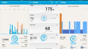Withings HEalth Mate App Screens