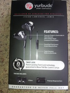 Yurbuds Signature Series back of box
