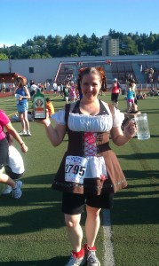 Maryalicia in costume at the 2011 Starlight 5K Run