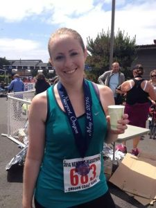 Newport Marathon Finisher! Photo Credit: Amber Corsen