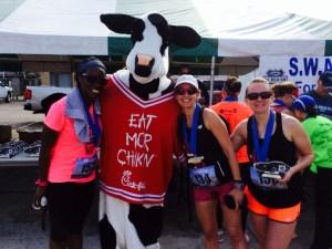 Jailbreak Half Marathon Chick fil A cow