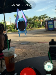 Find bats at Starbucks when you play Pokemon GO.