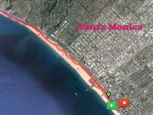 Running in Santa Monica