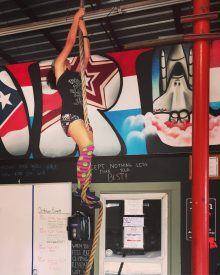 Marathon training week 2: rope climbs