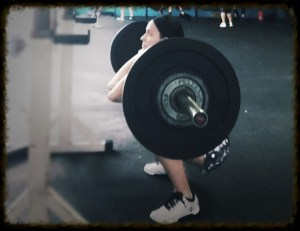 Back to running - front squats