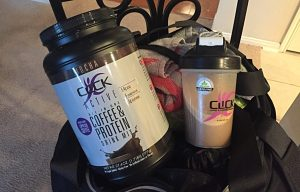Click Active Coffee Protein in my gym bag