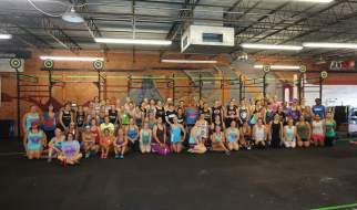 crossfit competition: competitors