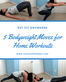 Snowed in? Traveling? Here are 5 bodyweight moves you can do in your living room or hotel room, no equipment (or shoes!) needed.