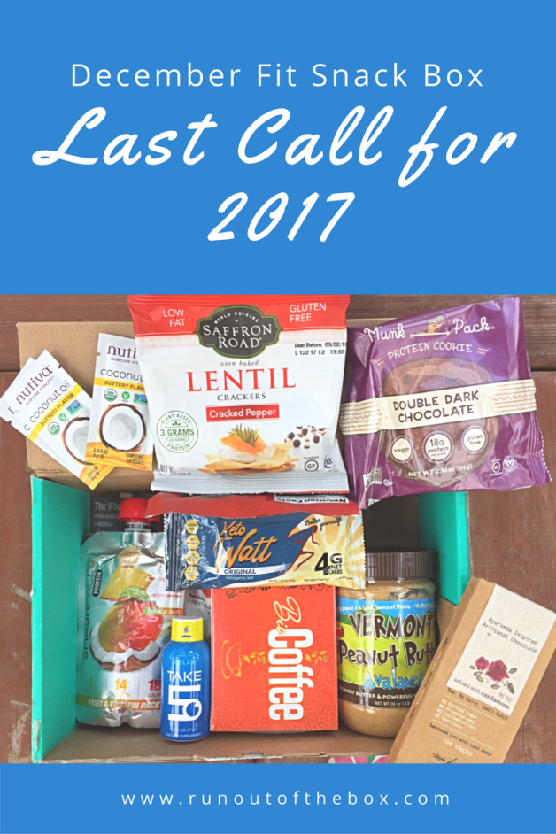 The December Fit Snack box closed out the year on a high note. Not only did it include a full-size peanut butter jar (!), but it was also packed full of other tasty treats.
