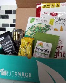 The January Fit Snack Box was the first one that ended up completely empty by the time I wrote this review. It was full of deliciousness, even if there was no beef jerky!