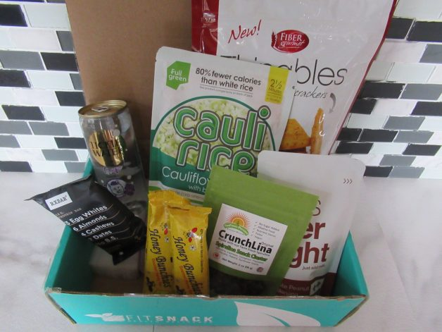 january fit snack box - birds' eye view