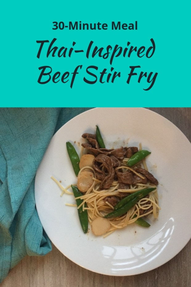 Looking for a quick weeknight dinner that's also packed with protein and iron to repair sore muscles? Try this Thai-inspired beef stir fry recipe!