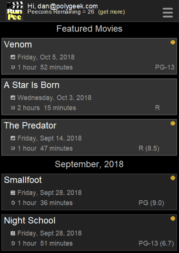 Movie List Screen