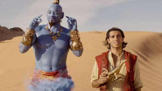 will smith as genie in Aladdin and the live action disney remake