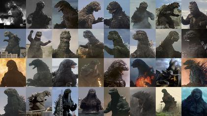 Godzilla images over the years