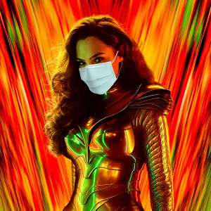 Wonder Woman 1984 with mask