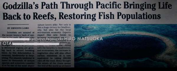Godzilla's path through Pacific bringing life back to reefs, restoring fish populations.