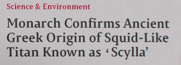 Monarch confirms ancient Greek origin of Squid-like Titan known as 'Scylla'