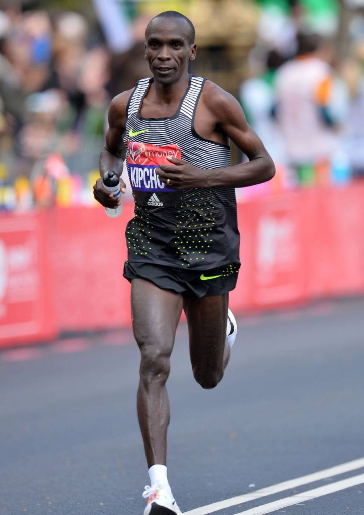 Kipchoge debuted the kit in London