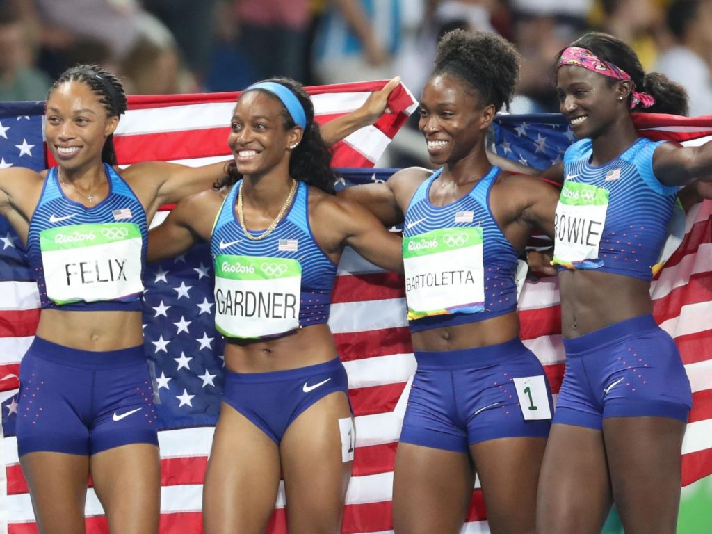 Women's 4x100m clinched again by Team USA