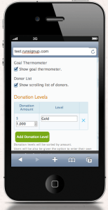 Mobile Donation Setup