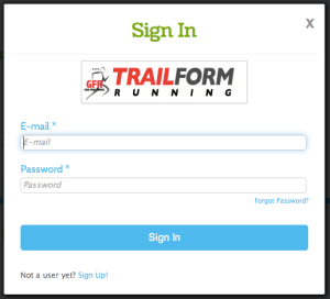 Sign In Popup