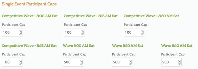 Participant Caps