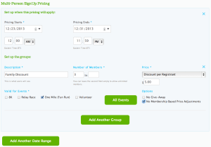Multi-Person SignUp Pricing