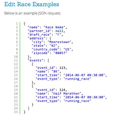 Edit Race API