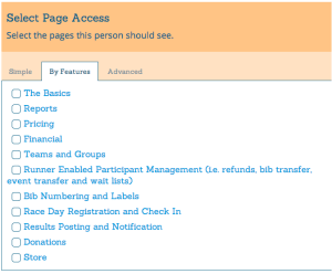 Secure Access by Features