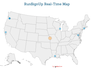 Real Time Race Hit Map