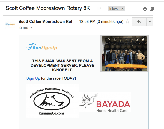 Race EMail