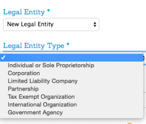 Legal Entity TYpe